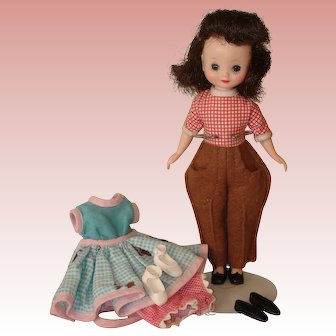 "Betsy McCall 8"" - with 2 outfits, extra shoes!"