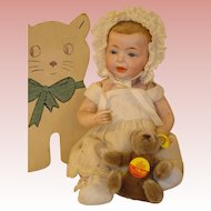 "Antique Kaiser Baby - Glass Eyes - So Rare and So Cute, K*R 10"".  Layaway Available."