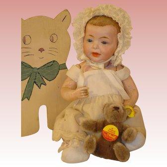 "Antique Kaiser Baby - Glass Eyes - So Rare and So Cute, K*R 10""."