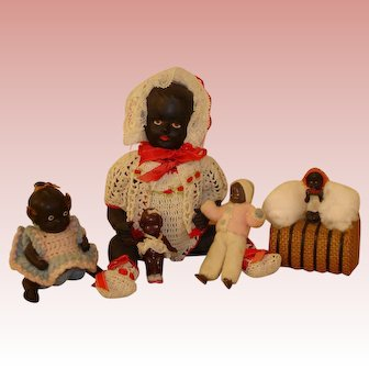 Antique/Vintage Black Doll Collection - 5 different littles.