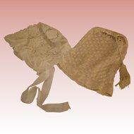 Antique Doll Bonnets X 2