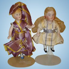 Antique All Bisque Dolls X 2. Moving Sale!