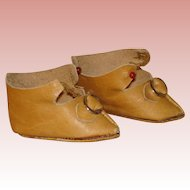French Style Leather Doll Shoes 2""