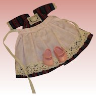 Ginny Dutch Doll Dress with shoes and apron
