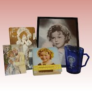 Shirley Temple Vintage Memorabilia - 5 Items, Original 1936 Pitcher!  MOVING SALE starting 1/19 - Great time to Purchase !!!