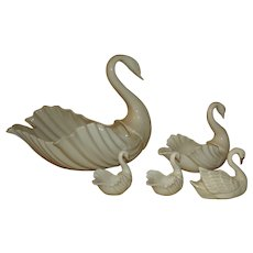 Lenox China Swans - 5 Beautiful Pieces from Small to Large.