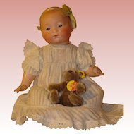 Antique AM Dream Baby on Composition Body - Super Sweet with Adorable Clothes.