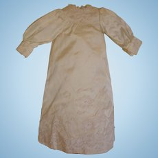 """Silk Dress for Antique Doll - Fully Lined, Seed Pearls - for 18"""" Doll.  MOVING SALE starting 1/19 - Great time to Purchase !!!"""