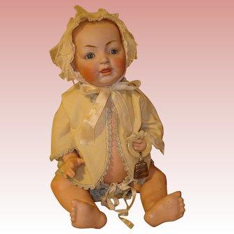 """Kestner Antique Baby - 17""""  All Original Clothing."""