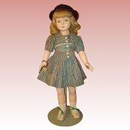 "American Child by Effanbee 19"" - Dewees Cochran Composition Doll Circa 1936-39.  MOVING SALE starting 1/19 - Great time to Purchase !!!"