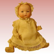 """Antique AM Bisque Baby - #341 - 9""""  Size 0 ! -in Original Outfit."""