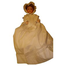 """Heubach Baby Sleep Eye  15""""-  Rare Mold  #7518! Doll with Original Trunk and Extra Clothing/shoes Also."""