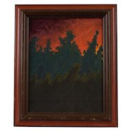 "Original Painting by Michael Bradley (1944-2012), ""Mexico Night"""