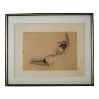 Figure Study Drawing, Northern California, circa 1970's