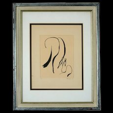 Original Lithograph by Torsten Follinger, Two Horses