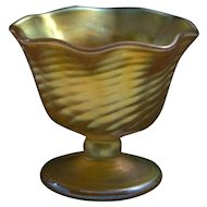 California Studio Glass Goblet Vase, Signed Circa 1988