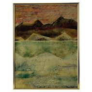 Circa 1964 Bay Area Abstract Expressionist Mid Century Landscape Painting
