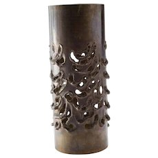 Circa 1970's Brutalist Candle Holder by Modernist Architect, Robert Stanton (1900-1983)
