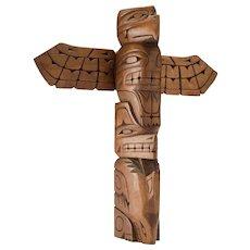 Northwest Coast Carved Wood Totem