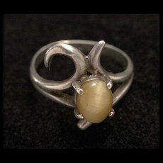 1960's-70's Modernist Sterling Modernist Ring