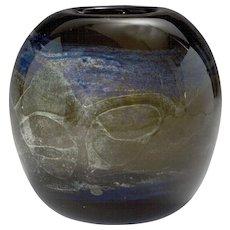 1970's California Studio Art Glass Vase
