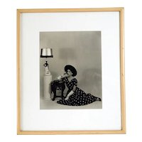 Vintage Mid Century Black and White Fashion Advertising Photograph
