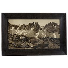 "Rare Original Mural Photograph by François Émile Matthes, ""Kearsarge Pinnacles and Kearsarge Lakes, circa 1925"