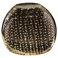 Erickson Glass (Bremen OH) 1949-61 Art Glass Controlled Bubbles Paperweight