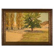 George J. Crawford Watercolor, Western Rural Landscape, 1941