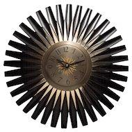 "Fabulous Massive Mid Century Modern G.E. SUN BEAM ""Telechron"" Wall Clock"