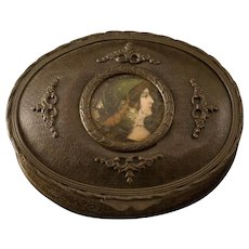 Early 20th Century Gilt over Copper Jewelry Box