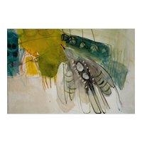 "Painting by Inez Storer  (American, b.1933),  ""Flying Bird"" 1965"