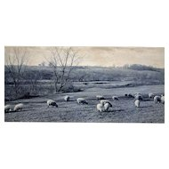"Historic American Pictorialist Photograph  Circa 1905-20 Charles Henry Sawyer  (American, 1868-1954) ""Oxford Downs"""