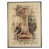 """Signed """"Number One"""" Lithograph America Seen Gallery , circa 1977"""