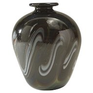 American Studio Art Glass Vase, signed Berlin '75