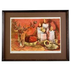 Mid-Century Lithograph by Elaine Thiollier