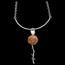Fabulous Robin Albachten Sterling Necklace