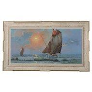 Nautical Ship Painting by Carel Lodewyk Dake, II (1886-1946)