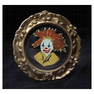 Vintage 1970's Enamel Clown