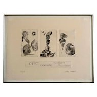 "Hank Laventhol (1927–2001) Signed Etching ""Essai II"""