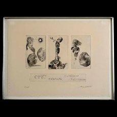 "Hank Laventhol (1927–2001) Signed Etching ""Essai II"""