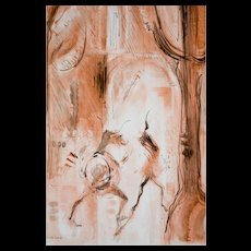 Mid Century Watercolor by David Landis (1918-1983)