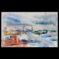 Mid Century Watercolor by David Landis