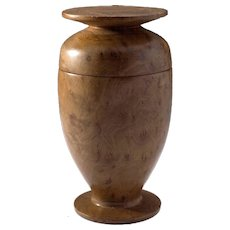 Modernist Turned Wood Lidded Urn by Charles Bello, Richard Neutra Internist