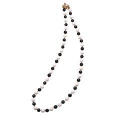 Fabulous Mid-Century Hattie Carnegie Glass Bead Necklace
