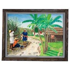 Original Painting by Jean Felix DeFournoy (ARFELIX DEFOURNOY) (20th c.) Renowned Haitian Artist