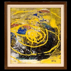 Abstract Expressionist Painting by Alvin W. Need  (1911 - 1986)