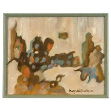 Original Abstract Oil Painting by Mary Wilbanks, Taos NM