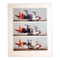 "Vintage Original Chromogenic ""C"" Photograph Hiller X-18 Experimental Plane"