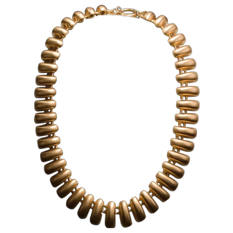 Vintage 1980's Anne Klein Haute Couture Bear Claw Necklace